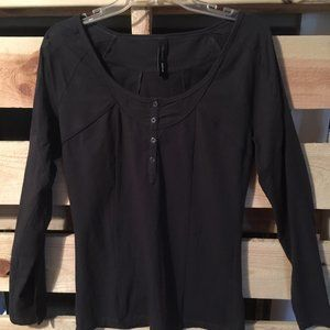 Vero Moda ADDed dark gray long sleeve top